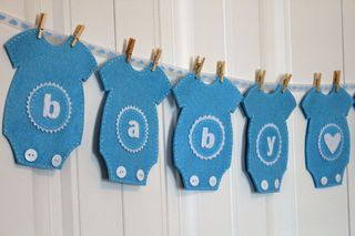 stampin and scrappin baby boy onesie felt banner