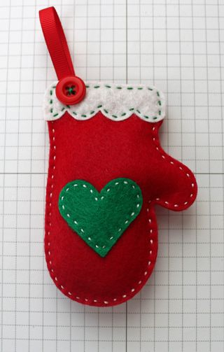 Red mitten ornament